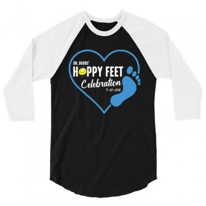 Happy Feet 3/4 Sleeve Shirt Designed By Wizarts