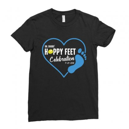 Happy Feet Ladies Fitted T-shirt Designed By Wizarts