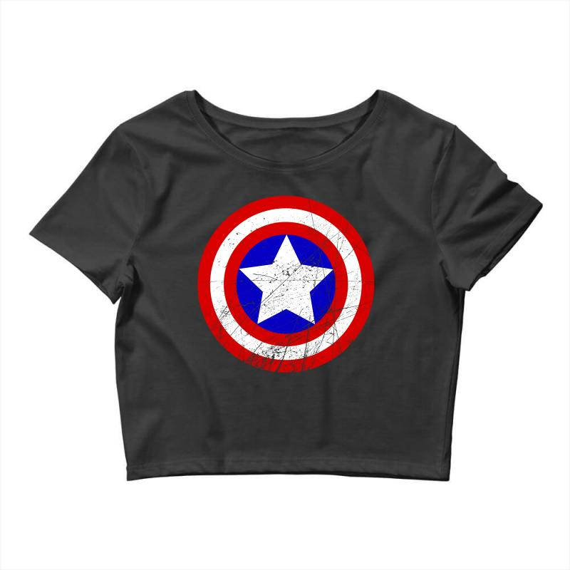 b96126cc1a4702 Custom Captain America Crop Top By Sengul - Artistshot