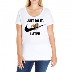 Just Do It Later Sloth Ladies Curvy T-Shirt | Artistshot