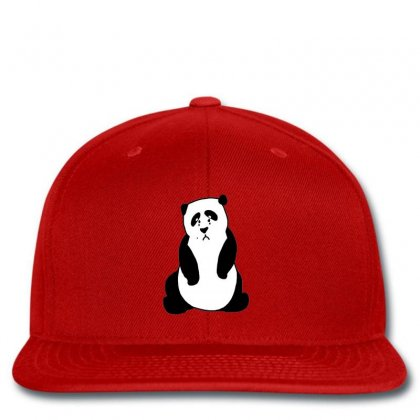 Crying Panda Embroidery Snapback Designed By Justembroidery
