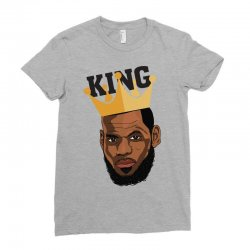 King Lebron James Ladies Fitted T-Shirt | Artistshot