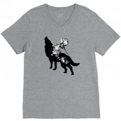 Wolf And Human V-Neck Tee | Artistshot