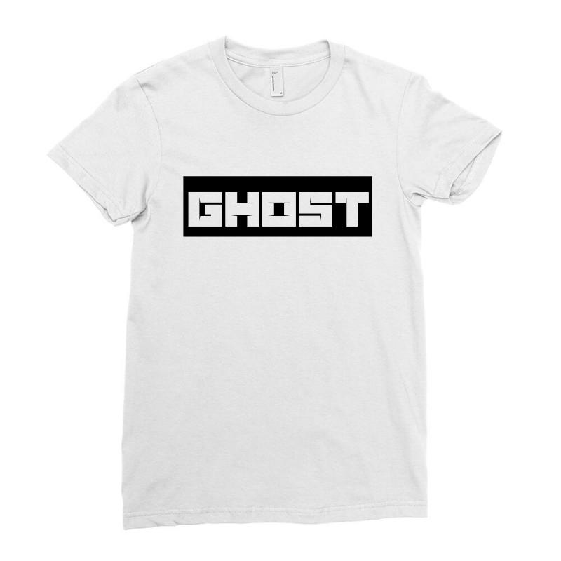 c8902e845d50a7 Custom Ghosh Ladies Fitted T-shirt By Ujang Atkinson - Artistshot