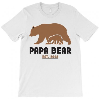 Papa Bear T-shirt Designed By Nurbetulk