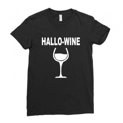 Hallowine Ladies Fitted T-shirt Designed By Ujang Atkinson