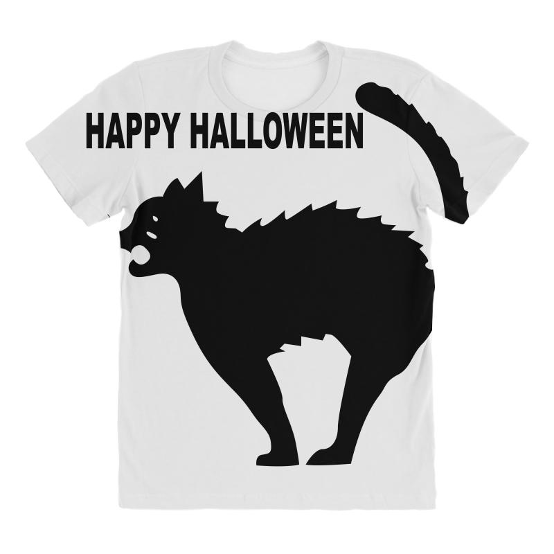 4eaa3e3f Custom Happy Halloween All Over Women's T-shirt By Ujang Atkinson -  Artistshot