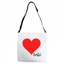 Besties Heart Family Matching Adjustable Strap Totes | Artistshot