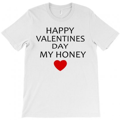 Happy Valentine Day Honey T-shirt Designed By Ujang Atkinson