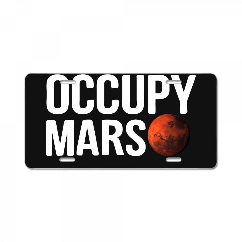 Occupy Mars License Plate | Artistshot