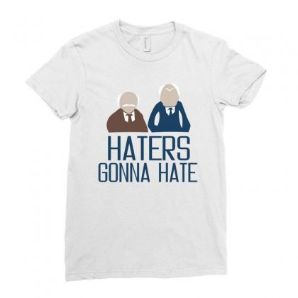 Haters Gonna Hate Ladies Fitted T-shirt Designed By Ujang Atkinson