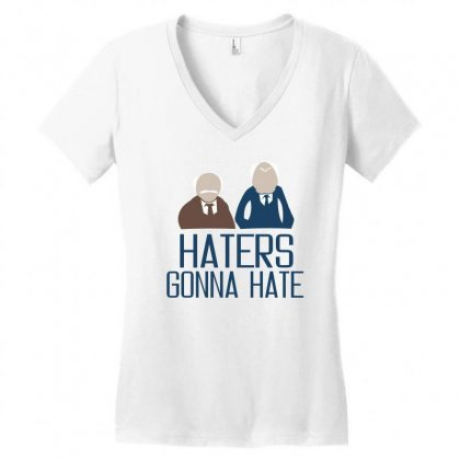 Haters Gonna Hate Women's V-neck T-shirt Designed By Ujang Atkinson