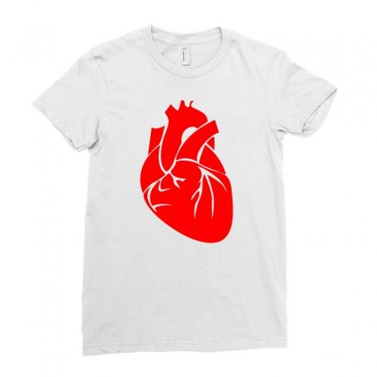 Heart Ladies Fitted T-shirt Designed By Ujang Atkinson
