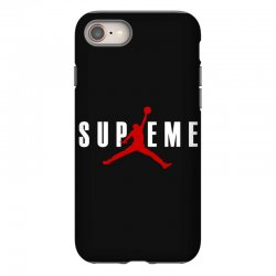 jordan x supreme white logo iPhone 8 | Artistshot
