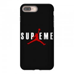 jordan x supreme white logo iPhone 8 Plus | Artistshot