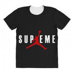 jordan x supreme white logo All Over Women's T-shirt | Artistshot