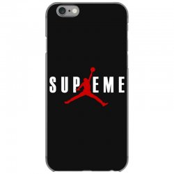 jordan x supreme white logo iPhone 6/6s Case | Artistshot