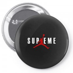 jordan x supreme white logo Pin-back button | Artistshot
