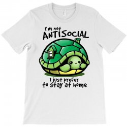 anti social turtle fun T-Shirt | Artistshot
