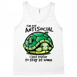 anti social turtle fun Tank Top | Artistshot