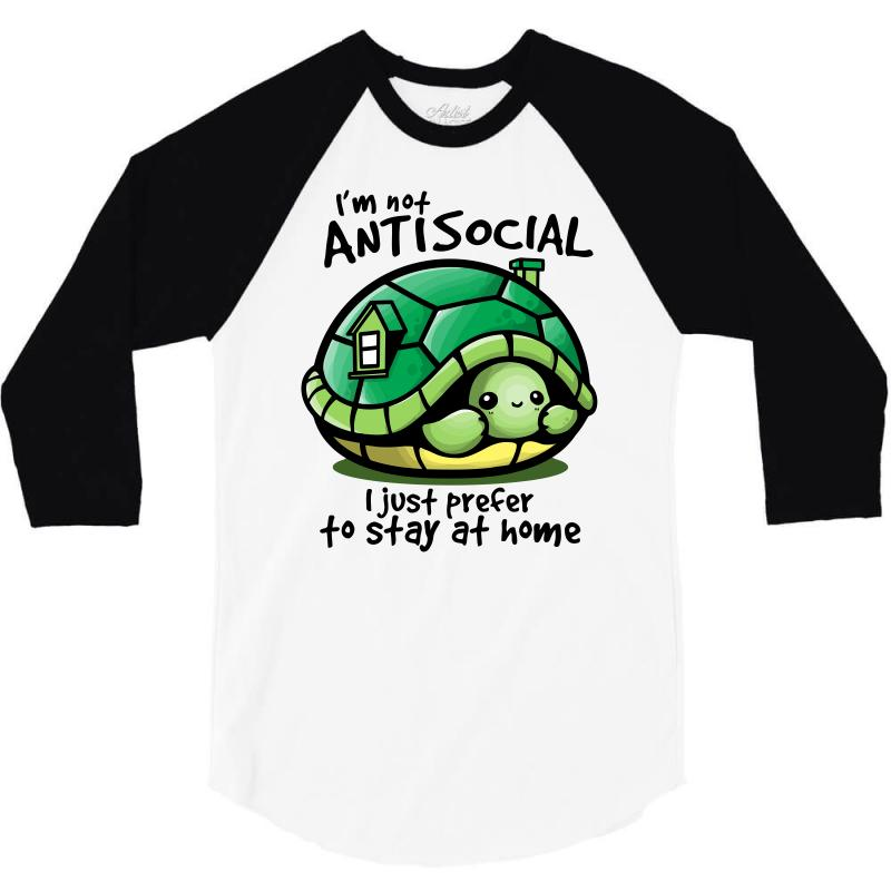 Anti Social Turtle Fun 3/4 Sleeve Shirt | Artistshot