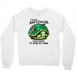 anti social turtle fun Crewneck Sweatshirt | Artistshot