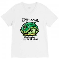 anti social turtle fun V-Neck Tee | Artistshot