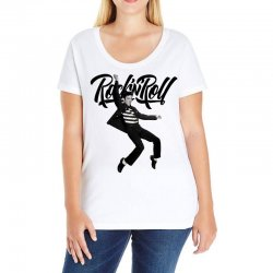 Elvis Presley Rock N Roll Ladies Curvy T-Shirt | Artistshot