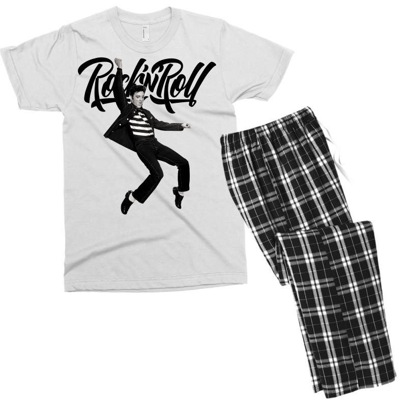 Elvis Presley Rock N Roll Men's T-shirt Pajama Set | Artistshot