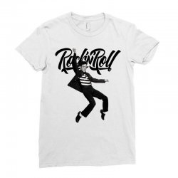 Elvis Presley Rock N Roll Ladies Fitted T-Shirt | Artistshot
