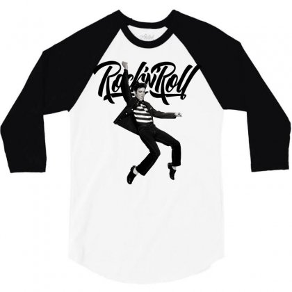 Elvis Presley Rock N Roll 3/4 Sleeve Shirt Designed By Sengul