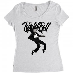 Elvis Presley Rock N Roll Women's Triblend Scoop T-shirt | Artistshot