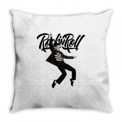 Elvis Presley Rock N Roll Throw Pillow | Artistshot