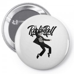 Elvis Presley Rock N Roll Pin-back button | Artistshot