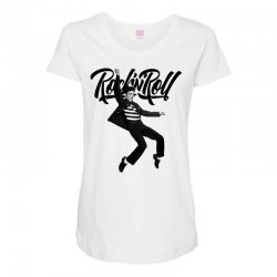 Elvis Presley Rock N Roll Maternity Scoop Neck T-shirt | Artistshot