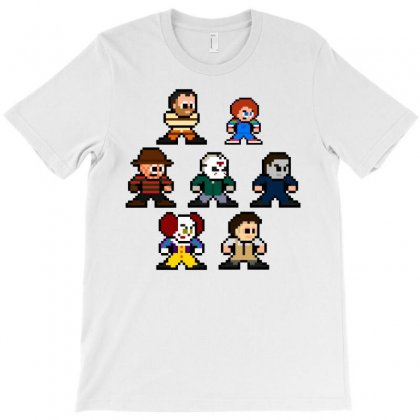 8 Bit Horror Icons T-shirt Designed By Yellow Star
