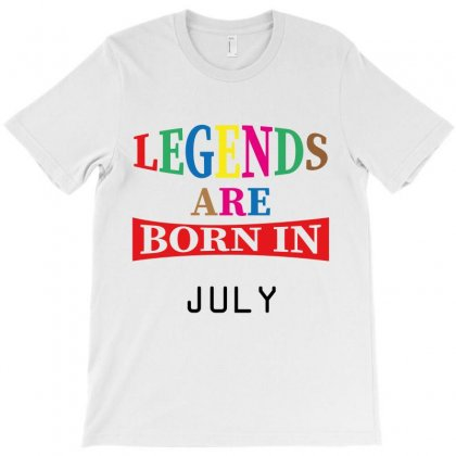 Legends Are Born July T-shirt Designed By Costom