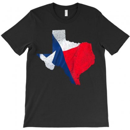 Eroded Texas Map With Flag T-shirt Designed By Akin