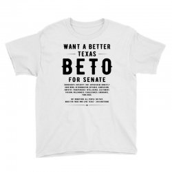 want a better texas black Youth Tee | Artistshot