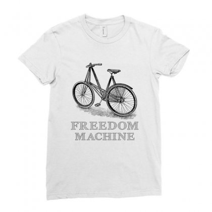 Freedom Machine Ladies Fitted T-shirt Designed By Akin