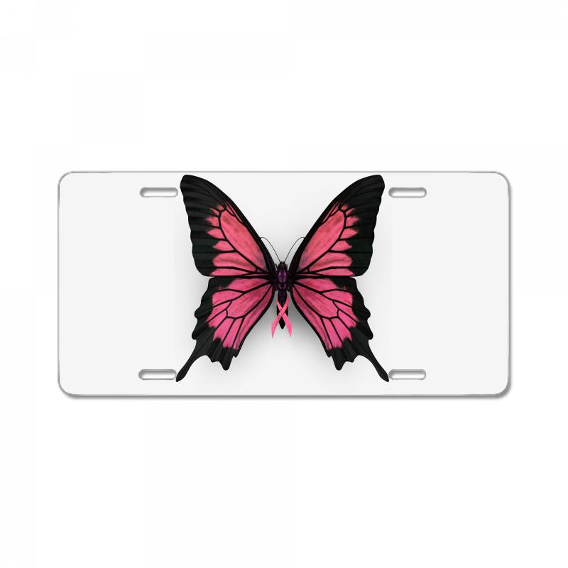 ff4f6b4e1 Custom Breast Cancer Butterfly License Plate By Akin - Artistshot