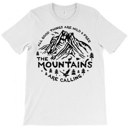 The Mountains T-shirt Designed By Meza Design