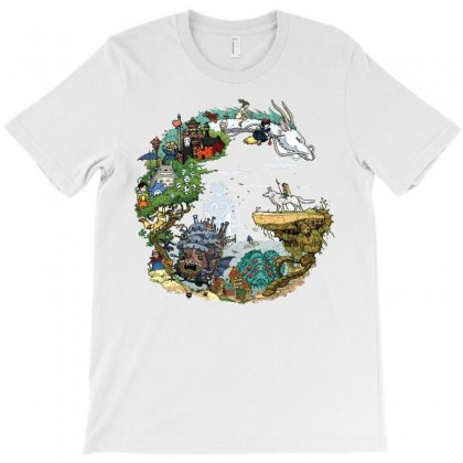 Ghibli Tribute T-shirt Designed By Meza Design