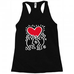 keith haring big love black Racerback Tank | Artistshot