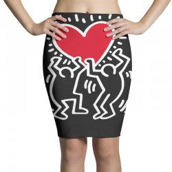 keith haring big love black Pencil Skirts | Artistshot