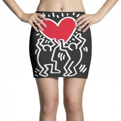 keith haring big love black Mini Skirts | Artistshot