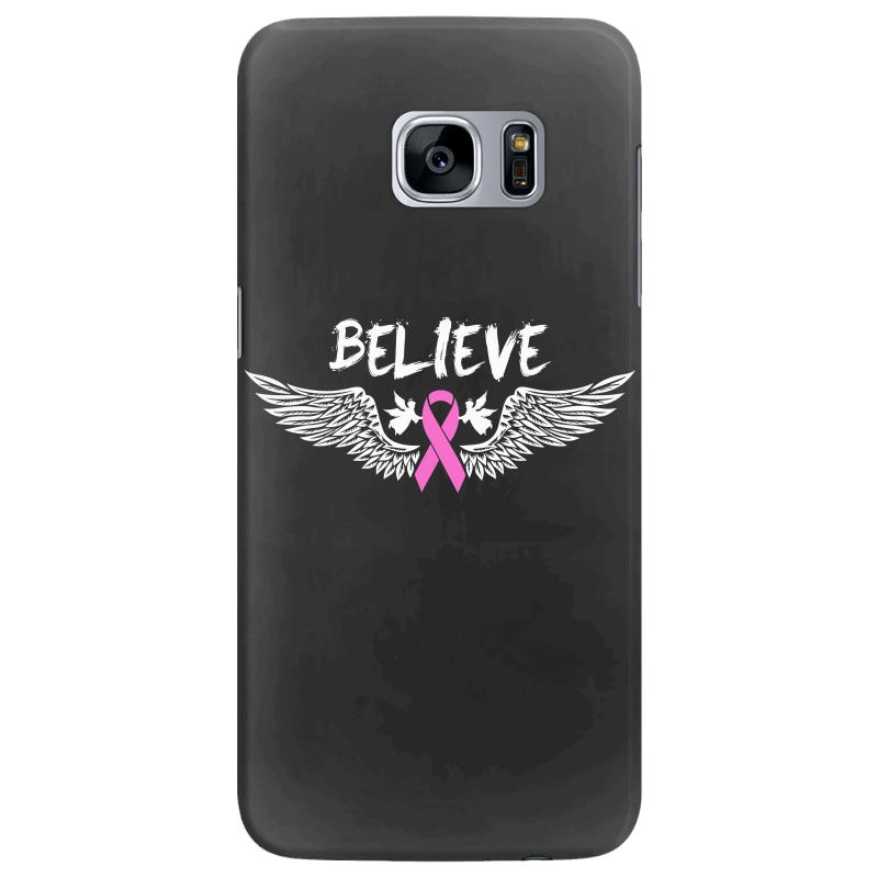 a08b56160 Angel Wing Believe Breast Cancer Samsung Galaxy S7 Edge Case. By Artistshot