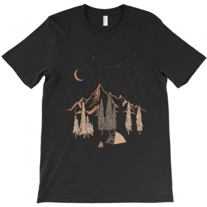 Night In The Forest T-shirt Designed By Akin