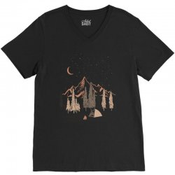 night in the forest V-Neck Tee | Artistshot