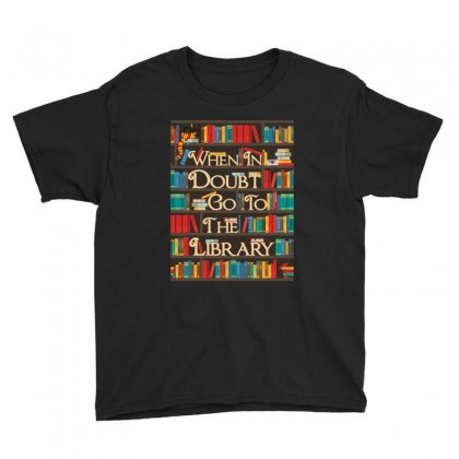 Harry Potter When In Doubt Go To The Library Youth Tee Designed By Nurbetulk